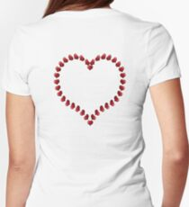 ROMANCE, affection, Valentine, Little, Hearts, Love Heart Womens Fitted T-Shirt