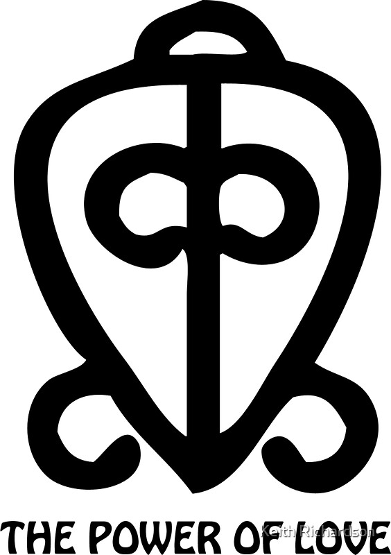 Quot T Shirt Adinkra Symbol Power Of Love Quot Stickers By Keith