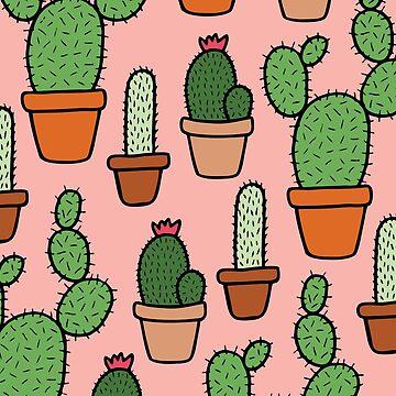 Rosa Kaktus-Muster von evannave