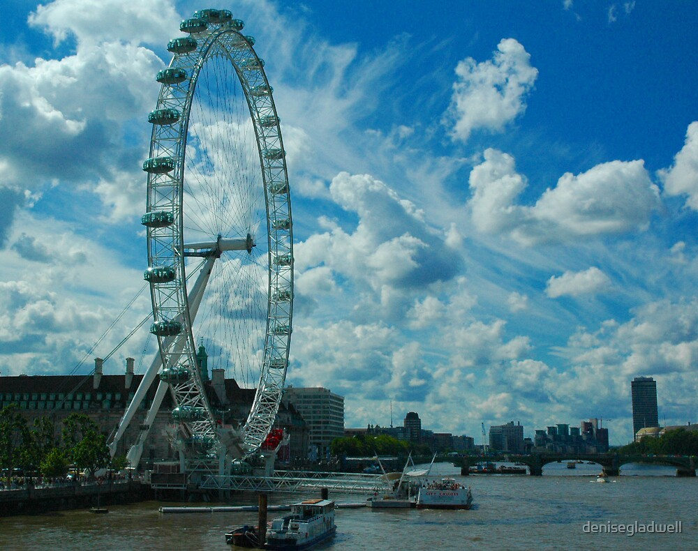 A view of the London Eye by denisegladwell