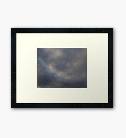 HDR Composite - Noisy Sky Framed Print