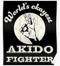 Worlds okayest akido fighter Poster