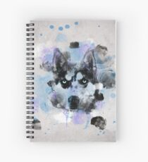Watercolor Husky Spiral Notebook