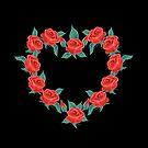 Beautiful Red Roses Shape by patjila
