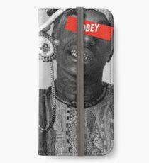 Kodak Schwarz iPhone Flip-Case/Hülle/Klebefolie