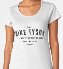 Vintage Mike Tyson Typography (Black Text) Women's Premium T-Shirt