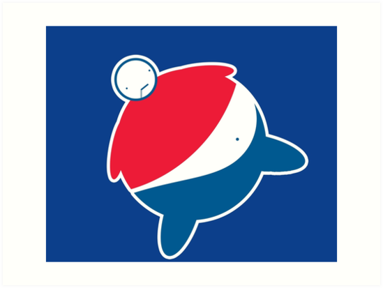 Pepsi Logo Fat Man By Scammell Design