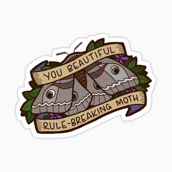 Rule-Breaking Moth - Leslie Knope Sticker