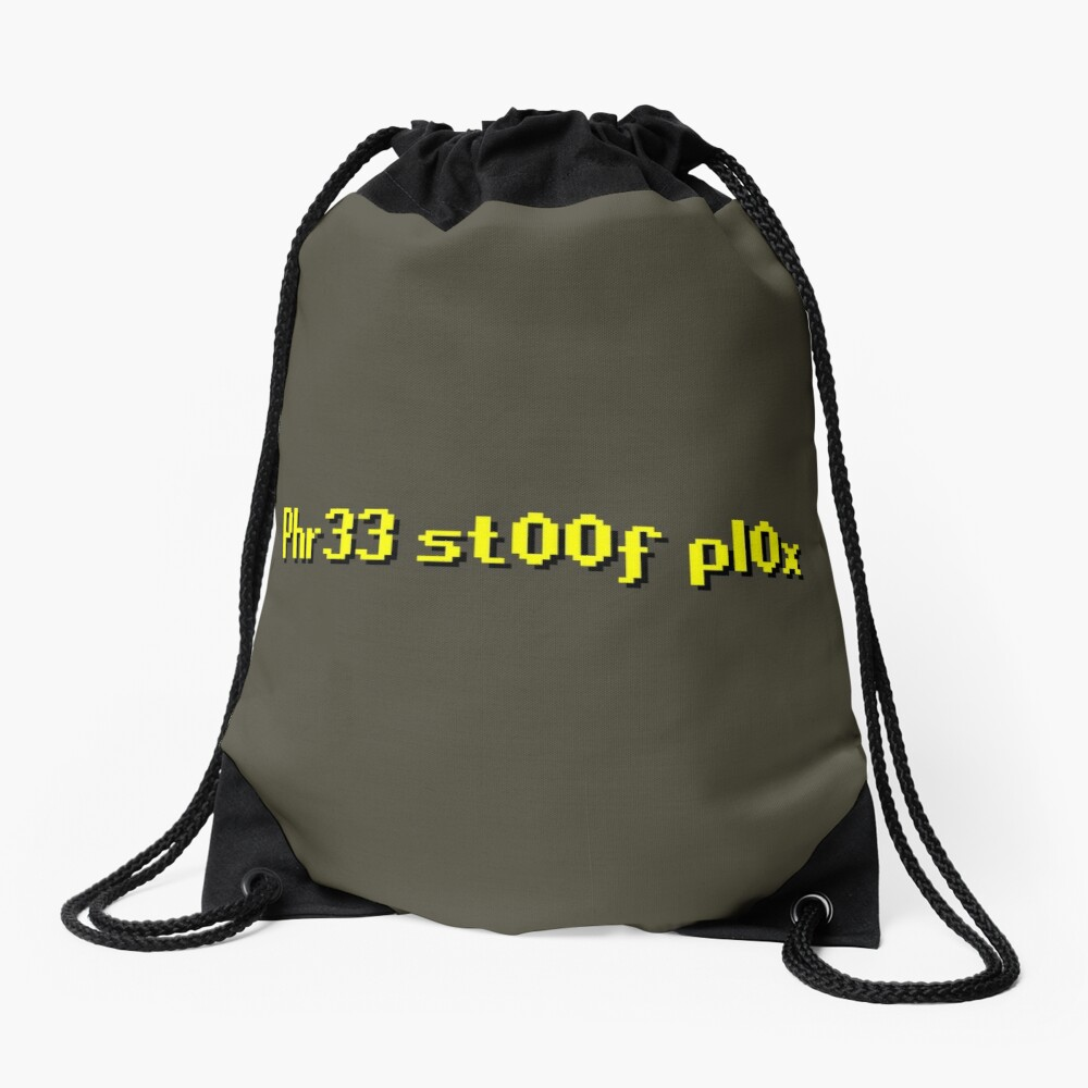 RuneScape Free Stuff Plox Drawstring Bag