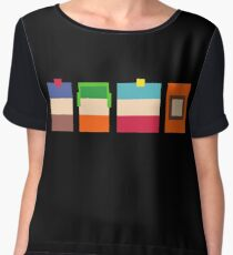 South Park 8-Bit Pixels Design Women's Chiffon Top