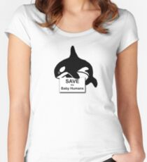 Save the Baby Humans Women's Fitted Scoop T-Shirt