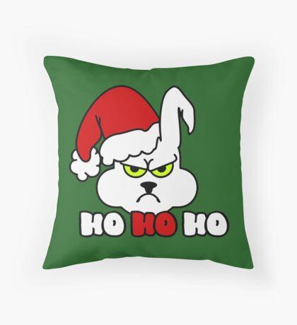HoHoHo - Bunny, the grumpy X-Mas Temp VRS2 Throw Pillow