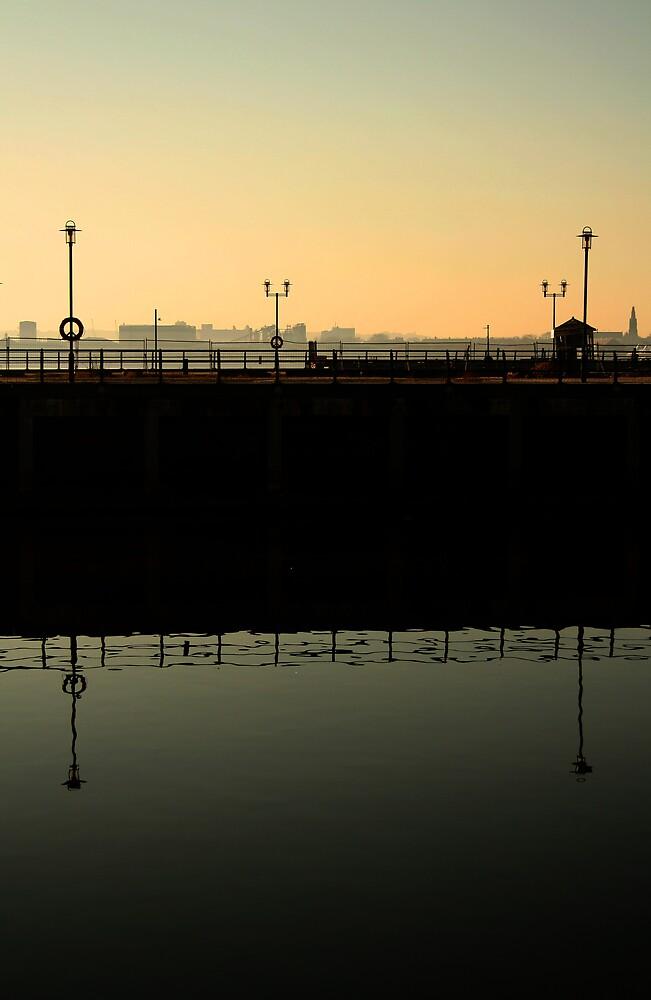 Princes Dock sky by Bev Evans