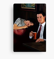 Twin Peaks - Cooper and Audrey Canvas Print