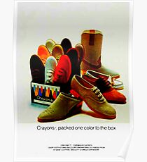 CRAYONS -  VINTAGE - 80'S-90'S - CLEAR PLASTIC HEELED - SHOES Poster