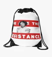 We Are The Resistance Drawstring Bag
