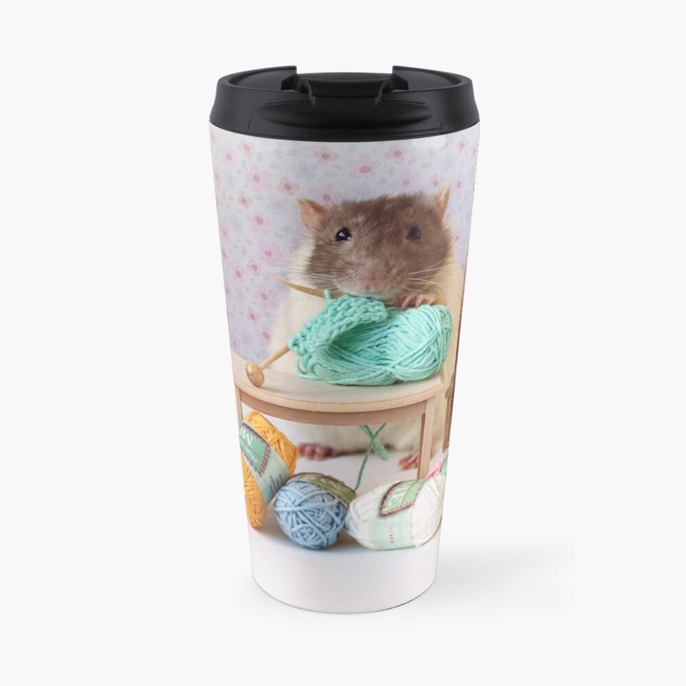Snoozy wanted to knit ! Travel Mug