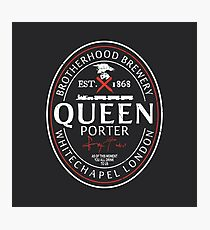 Assassin's Creed, Queen beer label Photographic Print