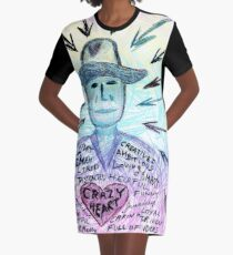 Crazy heart Graphic T-Shirt Dress