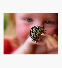 WOW!! A Paper Kite Landed On My Hand! - Paper Kite Butterfly - Dunedin NZ Photographic Print