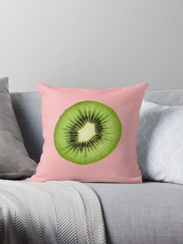 Kiwi Throw Pillow By Dopeoutlines Redbubble