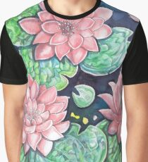 Pink Pond Lily Graphic T-Shirt