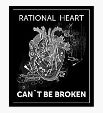 Unbroken Heart in Black and White | Urban Goth Design Photographic Print