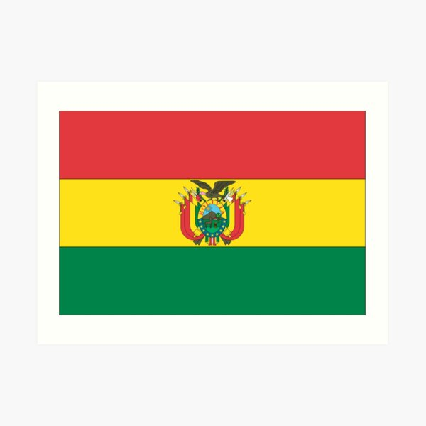 Bolivia Flag Art Print