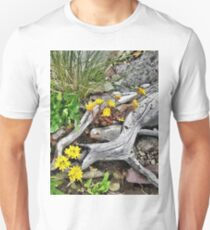 Wildflowers And Old Logs Unisex T-Shirt