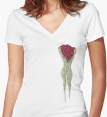 Rooted Women's Fitted V-Neck T-Shirt