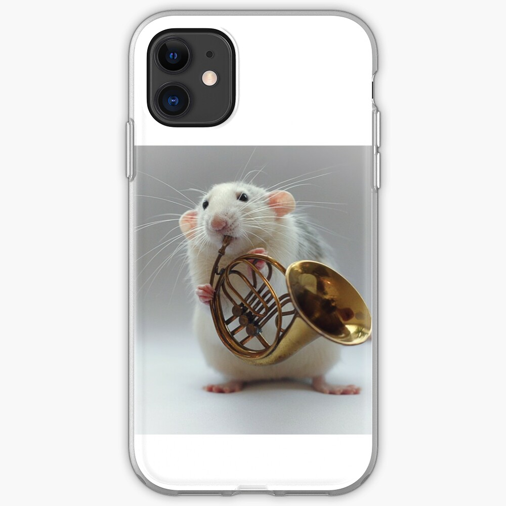 Moppy and his french horn iPhone Case & Cover