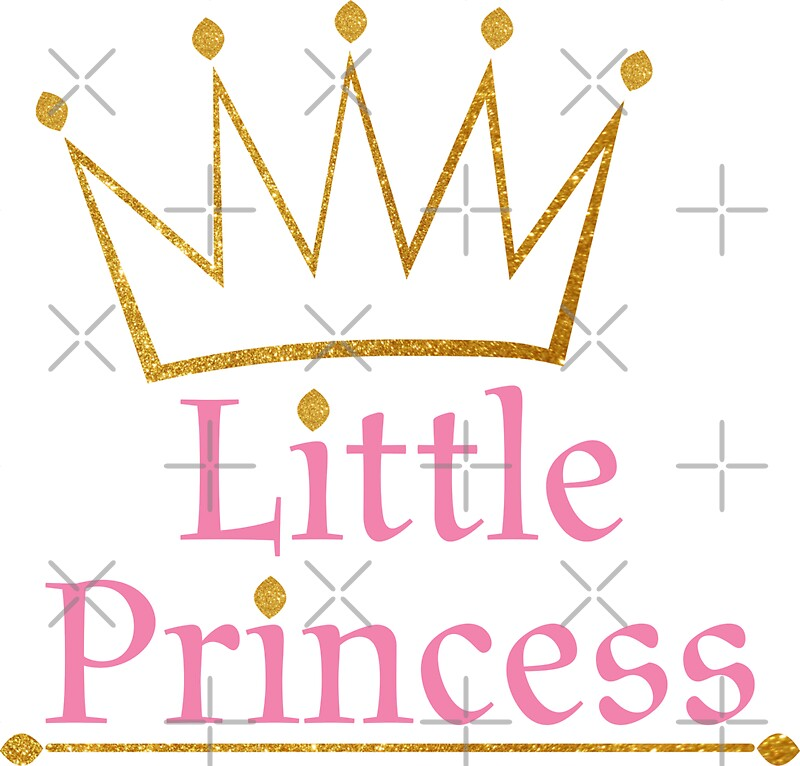 Little princess gold crown stickers by sigdesign redbubble for Small princess