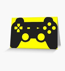 Video Game Inspired Console Playstation Dualshock Gamepad Greeting Card
