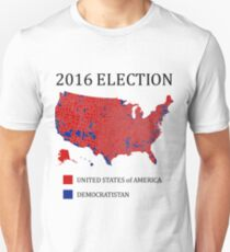 2016 Election Results Map By County T-Shirt