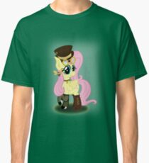Steampunk Fluttershy (with background) Classic T-Shirt