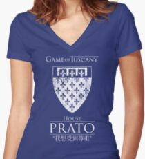 Game of Tuscany - Prato Women's Fitted V-Neck T-Shirt