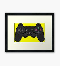 Video Game Inspired Console Playstation 3 Dualshock Gamepad Framed Print