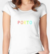 Porto City Color Women's Fitted Scoop T-Shirt