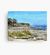 South Carolina Coastline 2 Canvas Print