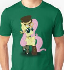 Steampunk Fluttershy (without background) Unisex T-Shirt