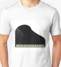 black grand piano icon Unisex T-Shirt