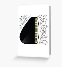 black grand piano icon Greeting Card