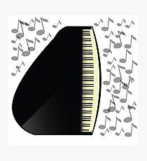 black grand piano icon Photographic Print