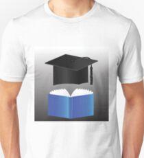 graduation cap and book Unisex T-Shirt