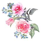 Bouquet of rose Painted by casualforyou