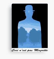 Ceci n'est pas Magritte Canvas Print