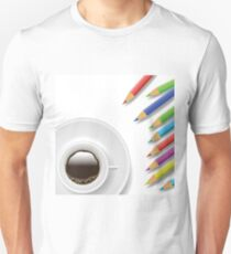 coffee cup and pencils T-Shirt