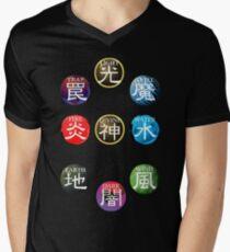 Camiseta para hombre de cuello en v Atributos de YuGiOh
