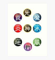 YuGiOh Attributes Art Print