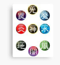 YuGiOh Attributes Canvas Print